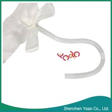 5PCS Clothes Satin Padded Hangers White