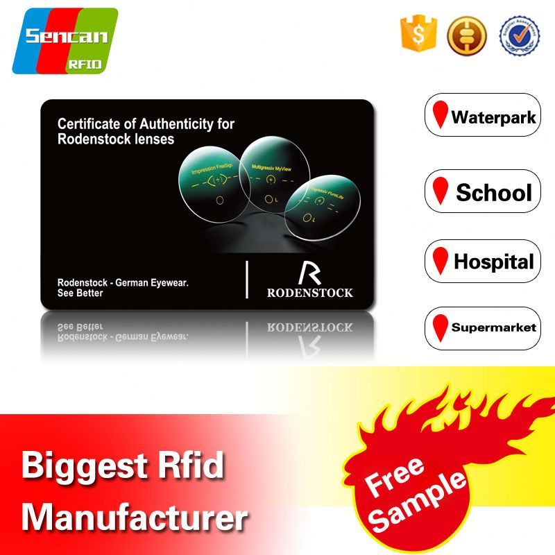 Factory cheaper price for PVC plastic magnetic card