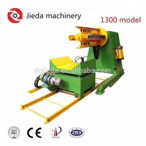 6T hydraulic motorized decoiler machine with coil trolley for heavy coil metal