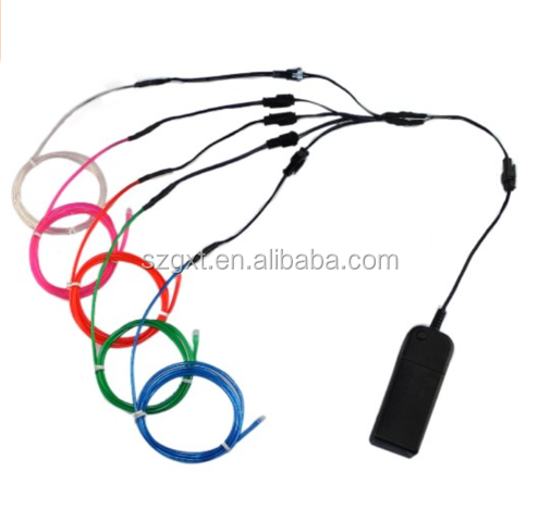 2.3mm purple blue skirt el led wire,led neon wire