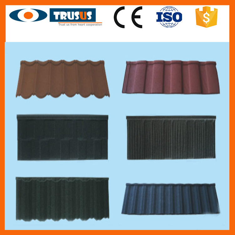 Professional Best Selling Best Price Building Materials Stone Coated Steel Roofing Tiles