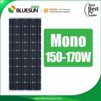 170W Top grade building integrated photovoltaics solar panels