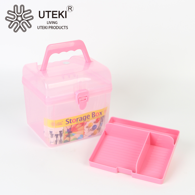 Simple square shape plastic storage box for medicine keeping