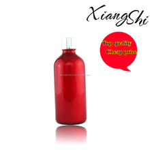 cosmetic red glass bottle short dropper