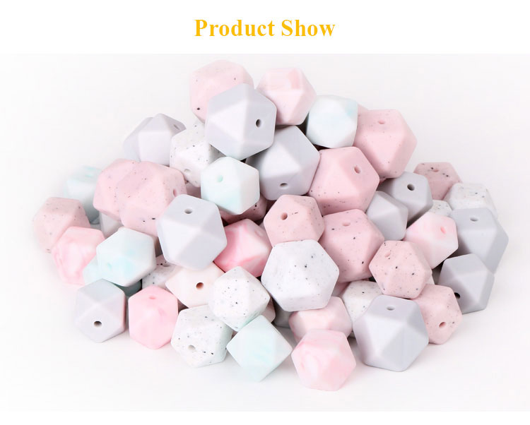Factory For Sale Non-toxic Food Grade Soft Silicone Teething Bead