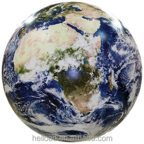 Giant custom made realistic inflatable earth globe ball for sale