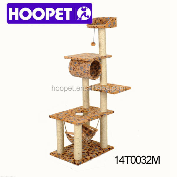 Super luxury cat tree house five floor with hammock cat supplies