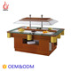 Junjian CE luxury 2-Channel Contaiainers Cooling buffet refrigerator salad bar /restaurant equipment