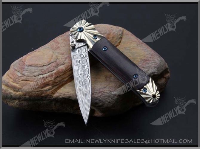 Popular Alloy Handle Hand-Made Damascus Knife