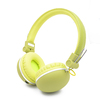 Fashionable colorful wireless headphone with memory card