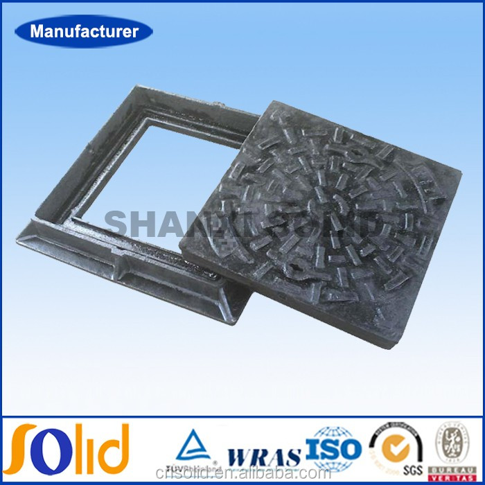 Ductile Cast Iron Square Double Seal Manhole Cover & Frame