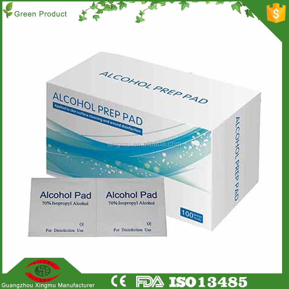 Clean and disinfect the skin of a favorable non irritating alcohol pads
