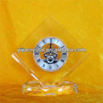 High quality Crystal clock desk clock round clock Wholesale