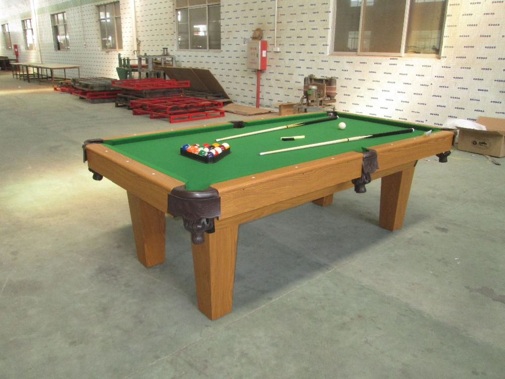 factory manufacturer pool table cheap 8ft /billiard table made of MDF with PVC