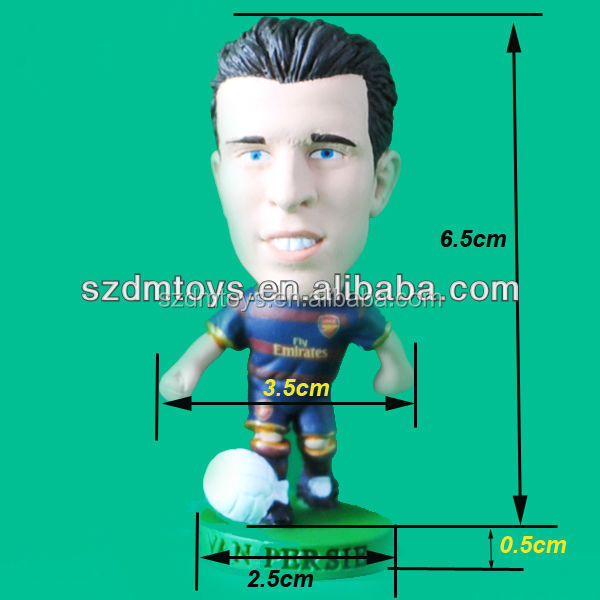 Promotional pvc military soccer player action figure
