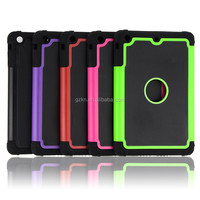 Hot selling Tough ballistic football lines Shockproof case triple defender 3 layerscombo Armor Case Cover For iPad Mini 1 2 3