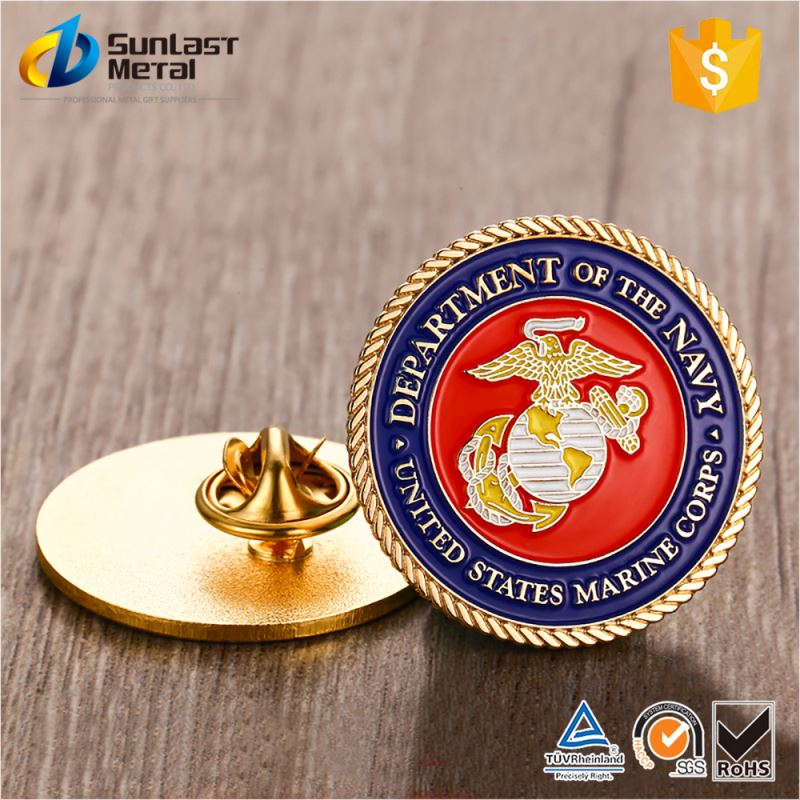 New product super quality blank metal badge lapel pin with different size