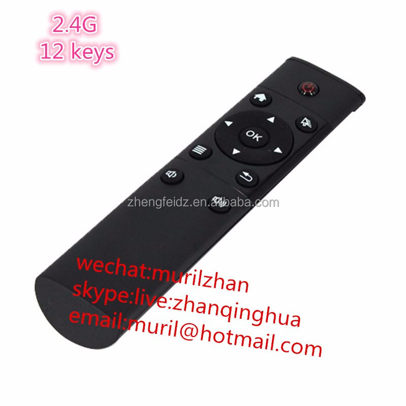 Mini 12 Buttons Air mouse 2.4 G general network set-top box android ali cloud smart TV universal remote control with USB