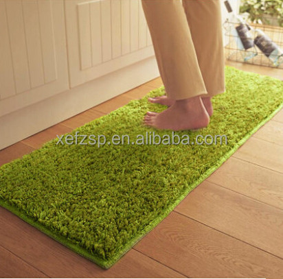 100% polyester shaggy foot massage floor mat