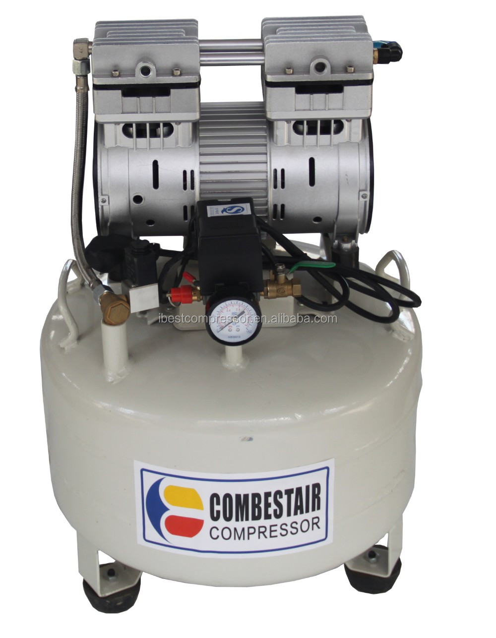 CE Approved Silent oilless air compressor/small oil free air compress