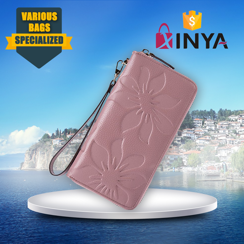 Manufacture cheap ladies pu leather wallet for phone