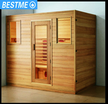 Stylish and elegant style soild wood steam sauna room portable sauna cabinet