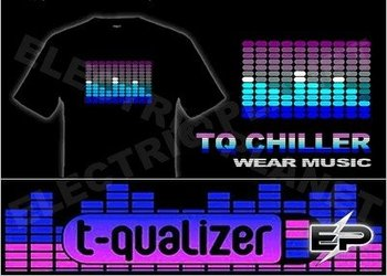 [Super Deal]Wholesale 2009 fashion hot sale T-shirt A36,el t-shirt,led t-shirt
