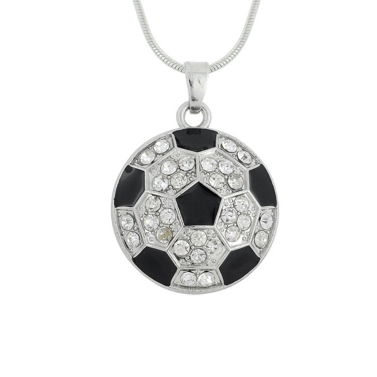 custom promotion gift 2016 UEFA European Football Championship soccer jewelry pendant necklace