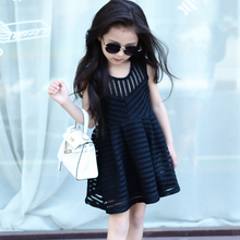 2018 popular three color summer little kids baby girl dress photo with No.1927