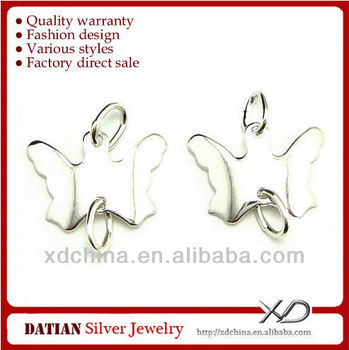 XD P320 925 sterling silver butterfly shape earring connectors set of earrings