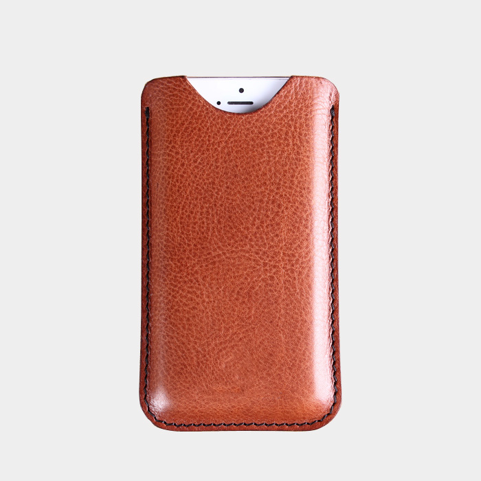 Italian Cow leather case for iphone5 genuine leather phone cover simple pouch for iphone5 custom leather case