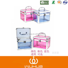 Transparent acrylic portable CD case with aluminum frame