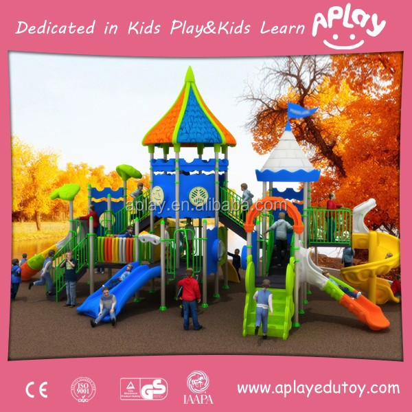 Lovely and cute customized design children Outdoor Playground with S slide for kids play area AP-OP10603