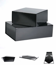 China Alibaba custom folding black gift shoe cardboard box wholesale LR1171