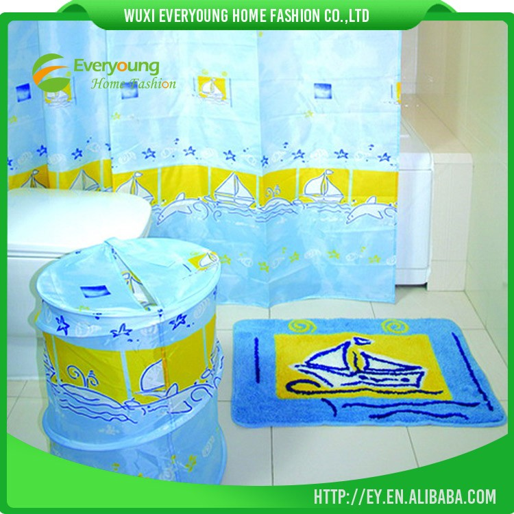 Elegant And Nice Design Bathroom Shower Curtain Sets