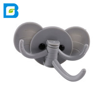 Wall mounted strong sticky elephant shape lovely flexible cartoon plastic adhesive wall <strong>hook</strong>