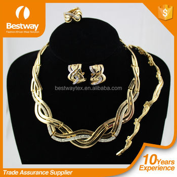 Dubai gold jewelry set 2015 african gold jewelry sets high quality african customers jewelry set for party EF0053-2