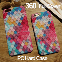 360 Degree Full Cover Hard PC Case for Iphone 7 Matte IMD Design Mobile Phone Case for Iphone 7 Plus