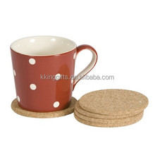 Wholesale hot food cork dining table mat/ coffee pot mat with custom own logo