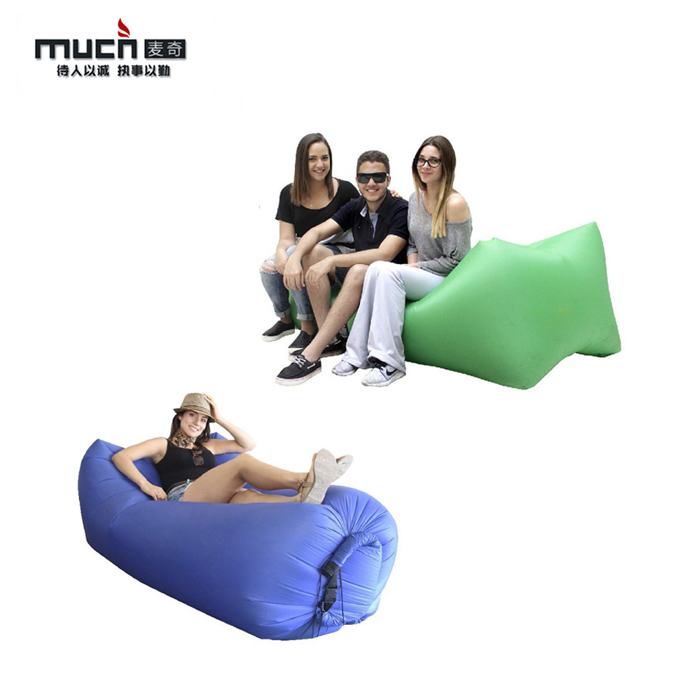 New fashion outdoor air filling insider inflatable sofa for beach