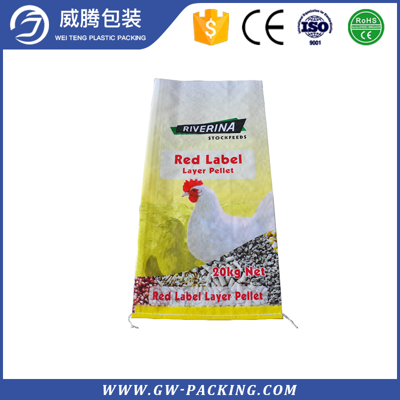 Professional design polyurethane PP woven animal feed bags