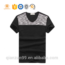 high quality v neck long line t shirt men / design your own t shirt