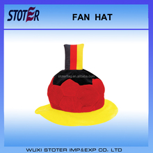 Germany flag soccer fan hat for 2016 Cup Custom Football fans cap hat