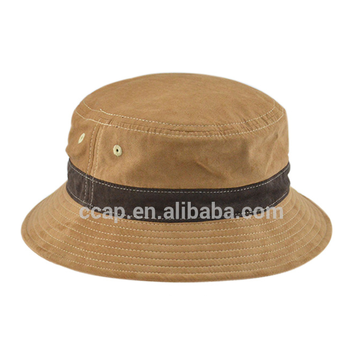 Custom Fancy High Quality Faux Leather Caps Fishing Hat fleece bucket hats