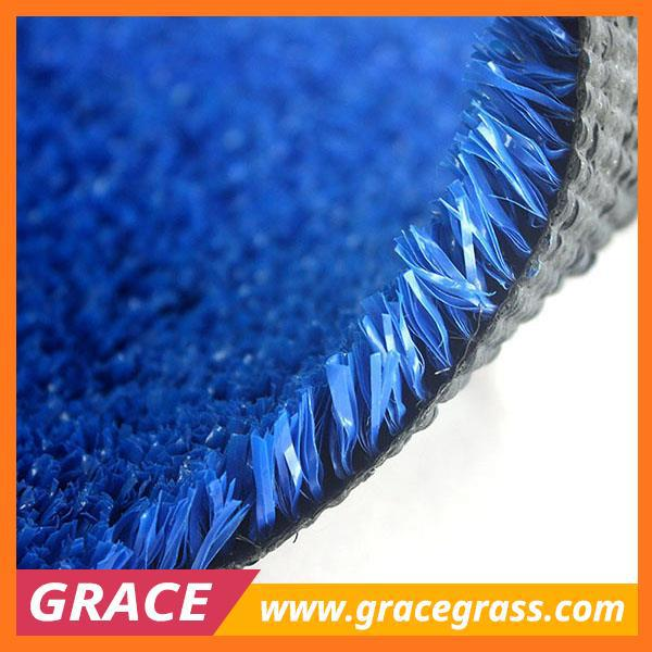 UV resistent blue artificial turf grass for gateball