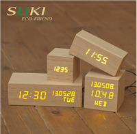 New arrive wooden electronic desktop Digital table LED clocks
