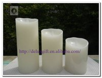 Buy LED Flame Wax Rose Candle 8cm Diameter 7CM Height RGB lighting ...