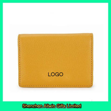 Custom logo small leathere money clip wallet