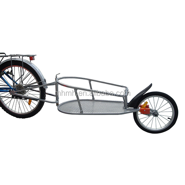 Single Wheel Bicycle Bike Cargo Trailer Cart Large Carrier W/Shopping Bag