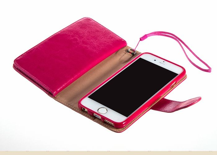 Custom design lady hand bag phone purse wallet for iphone 6 plus original case wholesale